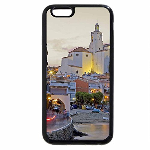 iPhone 6S / iPhone 6 Case (Black) lovely seaside town in spain at dusk