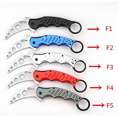 Speedy Panther Folding Karambit Training Tactical Knife Outdoor Claw Knife Tool Camo Trainer Knife