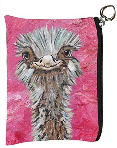 Ostrich Bird Charm - Ostrich Vegan Change Purse, Coin Purse - Animals