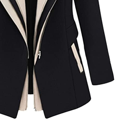 Amazon.com: Besde Womens Fake Two-Piece Stitching Work Suit Long Sleeve Office Removable Hooded Coat Jacket Blazer Jacket: Sports & Outdoors