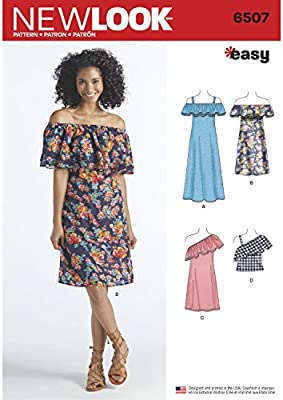 60789f14da385b Simplicity New Look Pattern Women's Dresses and Top Sewing Pattern, White