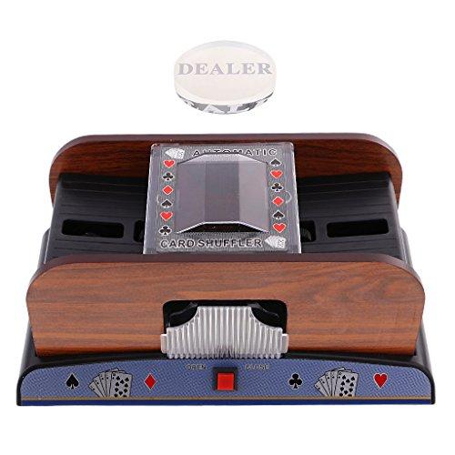 Homyl Card Shuffler Playing/Poker Cards Accs 2 Deck for Poker Games Gift w/Dealer by Homyl