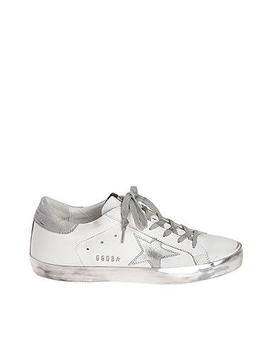 huge selection of 49fb3 ee6e5 Golden Goose Damen GCOWS590E36 Silber/Weiss Leder Sneakers ...