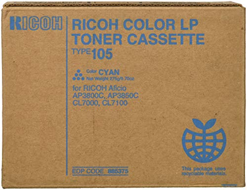 - Ricoh 885375 Type 105 Cyan Toner Cartridge