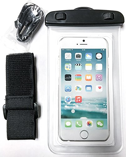YogaCase Dry Bag Universal Waterproof Case, Pouch Works With Apple iPhone 7, 7 Plus, 6S, 6,6S Plus, 5S, 5c Samsung Galaxy S7, S6 Note 5 4, HTC LG Sony Nokia Motorola CellPhone (Clear)