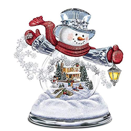 Diamond Painting 5D DIY Diamond Painting Kit Diamond Painting Full Drill, Christmas Snowman,19.7 x 19.7 inch(Frameless)