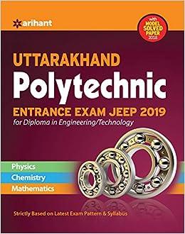 Buy Uttarakhand Polytechnics Entrance Exam JEEP 2019 for