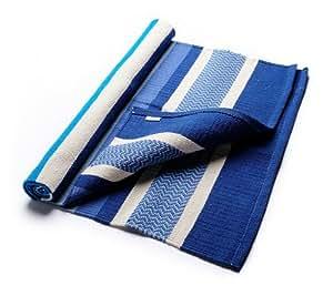 Hugger Mugger Cotton Yoga Rug (Caribbean Blue)