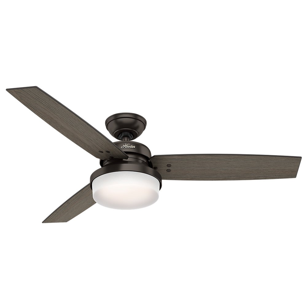 Hunter 59210 52 sentinel ceiling fan with light and remote hunter 59210 52 sentinel ceiling fan with light and remote premier bronze amazon aloadofball Gallery