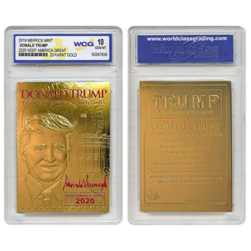 DONALD TRUMP 2020 Keep America Great 23K GOLD SIGNATURE Card Graded GEM-MINT 10 ()