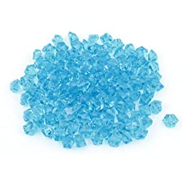 Uxcell 200-Piece Plastic Fish Tank Crystal Stones Set, 0.6-Inch, Blue