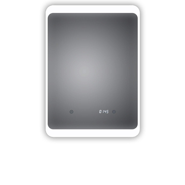 TOP AKTION FRÜHLING ! LED Badspiegel mit digitaler Uhr, Weimar 50x70cm, Badezimmerspiegel mit Uhr, Energieklasse A+