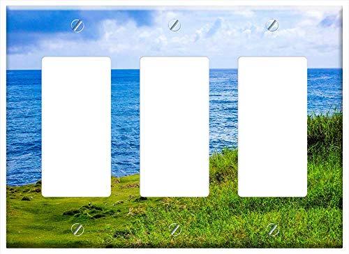 Switch Plate Triple Rocker/GFCI - Sea Atlantic Coast Ocean Nature Cabo Verde