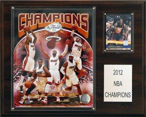 NBA Miami Heat 2012-2013 Champions Plaque, 12x15-Inch (Miami Heat Championship)