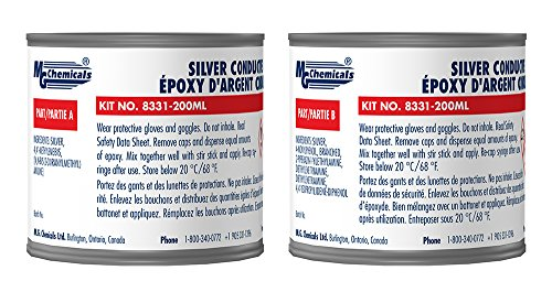 MG Chemicals Silver Epoxy Adhesive - High Conductivity, 10 min working time, 460 g, 2-Part Epoxy Kit by MG Chemicals