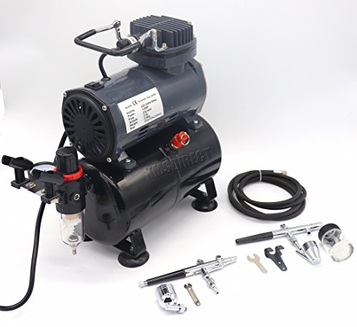 Airbrush Kit AS186 AS 186 with Compressor with Tank with 2 x Double Action...