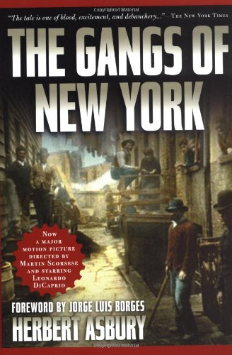 Book cover for The Gangs of New York