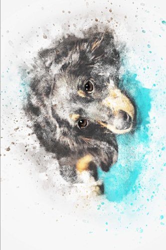 Download Painted Pet Dog Gazing at You Journal: 150 page lined notebook/diary PDF