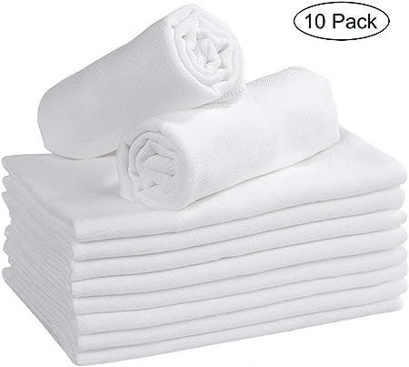 Muselina cuadrados en 100% algodón con tamaño de aproximadamente 35x35cm 3 capas de 10 unidades.Pued
