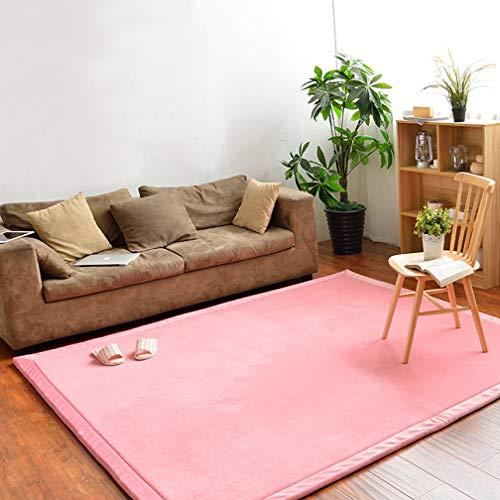 Solid Rectangular Area Rugs Soft Living Room Children Bedroom Rug Coral Fleece Anti-Slip Carpets Home Decor Modern Indoor Outdoor Runners Nursery Rugs 6.2' X 8'