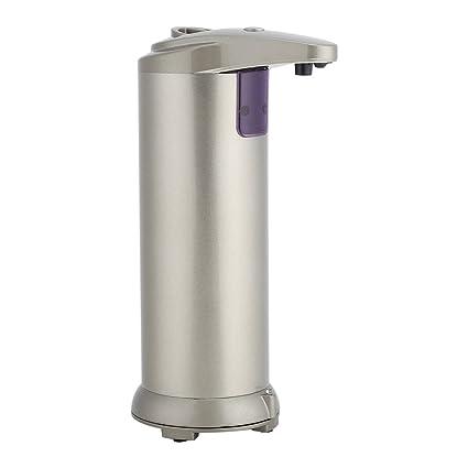 Aramox Dispensador de jabón, dispensador de jabón sin Contacto del Sensor del Acero Inoxidable Dispensador