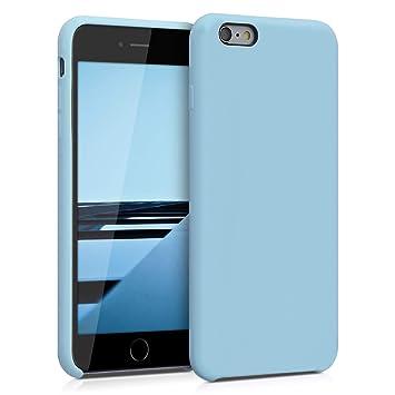 kwmobile Funda para Apple iPhone 6 Plus / 6S Plus - Carcasa de [TPU] para teléfono móvil - Cover [Trasero] en [Azul grisáceo]