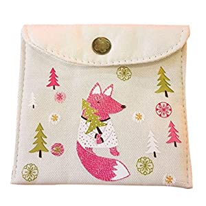 Yeahii Sanitary Napkins Pads Carrying Easy Bag Portable Pouch Case Bags for Women Girls