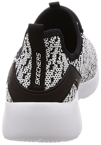 Black Dynamight Fleetly Skechers White Women's Shoe Casual xS588Ynq