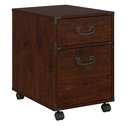 kathy ireland Home by Bush Furniture Ironworks 2 Drawer Mobile File Cabinet in Coastal Cherry