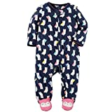 Carter's Baby Girls' Fleece Zip Up Owl Print Sleep & Play 9 Months