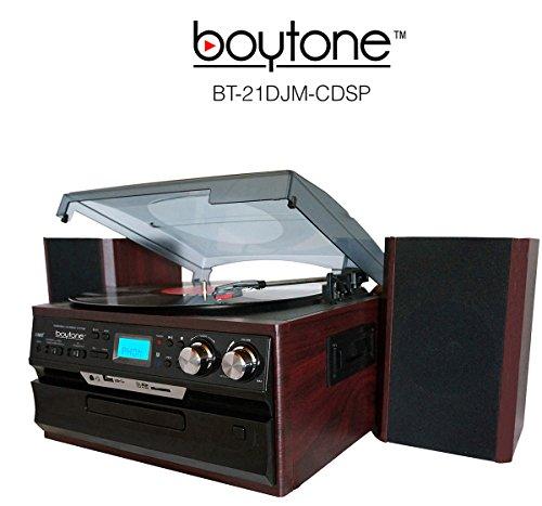 BOYTONE 3-SPEED TURNTABLE AM/FM/CD/CASSETTE STEREO ENCODE VI