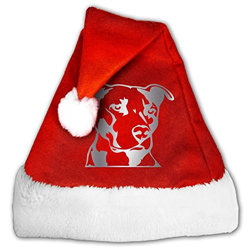 Pitbull Head Platinum Style Christmas Hat Velvet Santa Hat S Size For Kid,M Size For (Pitbull Christmas Costumes)