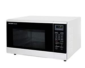 Sharp R-340R(W) 1100 Watt Microwave Oven, 32 L, 220V (Not For Usa), White