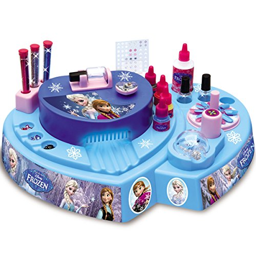 Frozen die Eiskönigin elektronisches Kinder Nagelstudio incl. Farbe, Trockner: Kinder Kosmetik Maniküre Nagellack Nagelset