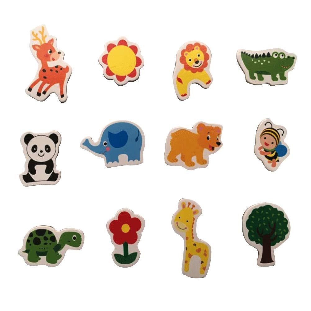 Toyvian 64pcs Animales Imán de Nevera de Dibujos Animados Animales ...