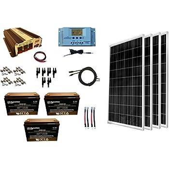 Amazon Com Windynation 400 Watt 4pcs 100w Solar Panel