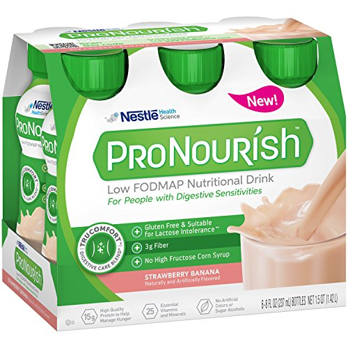 ProNourish Low Fodmap Nutritional Drink, Strawberry Banana, 6 Count (Nestle Strawberry Syrup)