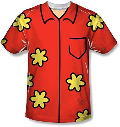 Family Guy Quagmire Costumes Tshirt (Family Guy - Mens Quagmire Costume T-Shirt, Size: Large, Color: White)