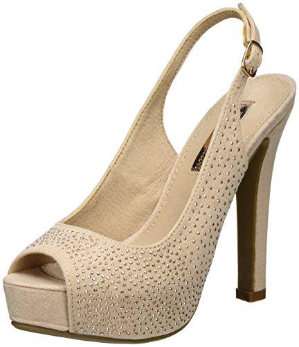 Nude Nude Punta Tacco Scarpe Microfiber Aperta Shoes Ladies Xti nude Col Donna Rosa 7xdqf0