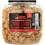 Utz Pork Rinds, Original Flavor - Keto Friendly Snack with Zero Carbs per Serving, Light and Airy Chicharrones with the Perfe