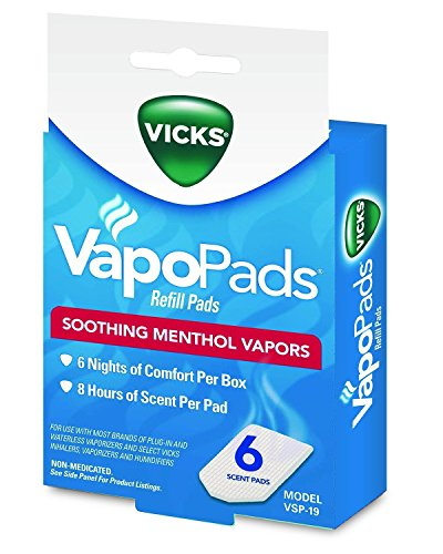 Vicks VSP19 Soothing Menthol Scent Pads 6 Count (Soothing Scent Menthol)