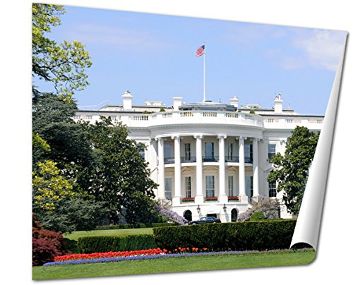 Ashley Giclee  South Facade And South Lawn Of The White House In Washington Dc In Spring  24X30 Print