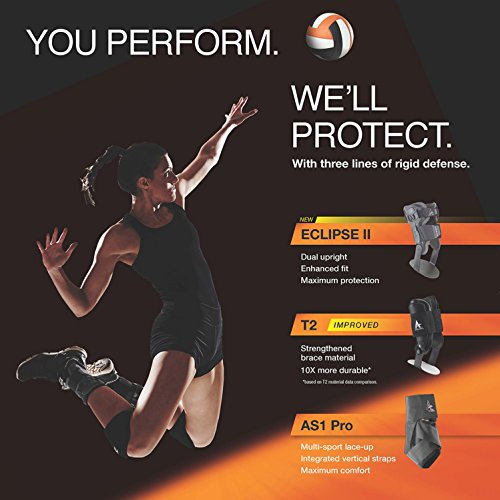 Active Ankle T2 Ankle Brace, Rigid Ankle Stabilizer for Protection & Sprain Support for Volleyball, Cheerleading, Ankle Braces to Wear Over Compression Socks or Sleeves for Stability, Black by Cramer (Image #7)