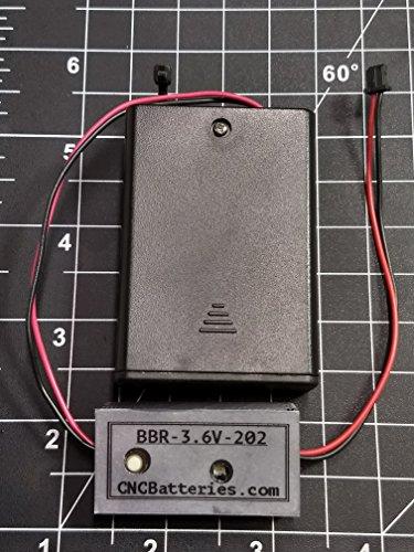 CNCBatteries BBR-3.6V-202 - Mazak/Mitsubishi MDS-DH (3.6 Volts) Lithium Battery retrofit/Upgrade to Alkaline -