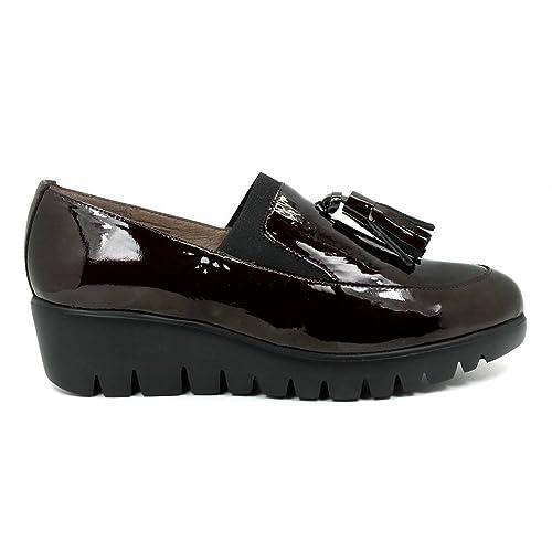 Wonders - Mocasín - Borlas - Plataforma - Charol - Cereza - 37: Amazon.es: Zapatos y complementos