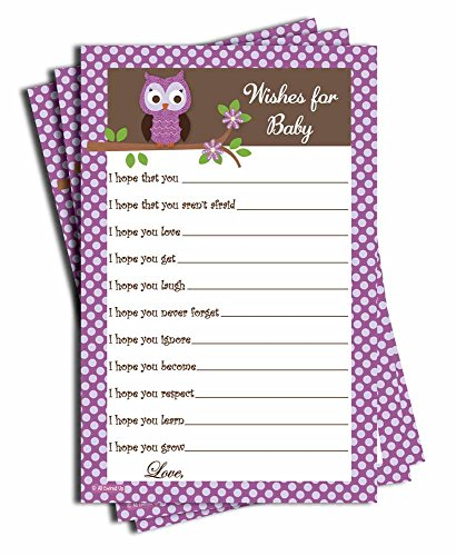 (Wishes for Baby - Baby Shower Game - Purple Owl)