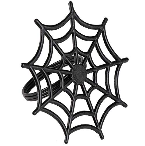 Juvale Halloween Napkin Rings - 6-Pack Black Spider Web Spooky Design Napkin Holder, Scary Costume Theme Party Supplies, Accessories, Lunch and Dinner Table Decoration by Juvale (Image #5)
