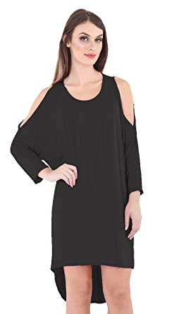 f318420723ca Image Unavailable. Image not available for. Colour  Lvl Online Store Ladies  Women Cold Shoulder Oversize Baggy - Loose Fit ...