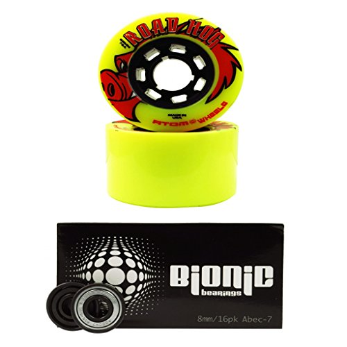 Atom Roadhog Outdoor Skate Wheels with Bionic Bearings Set of 8