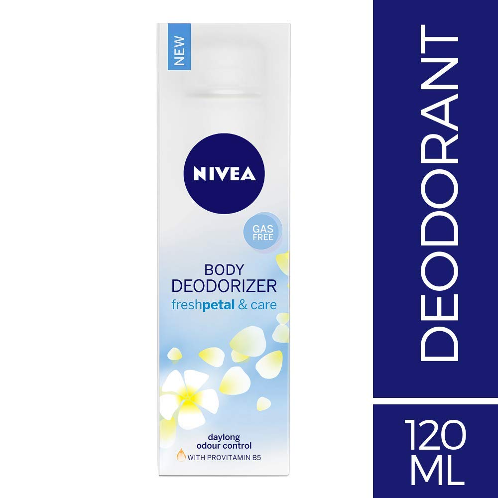 NIVEA Body Deodorizer, Fresh Petal & Care, 120ml